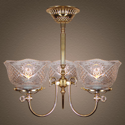 Model NSH3 'The Rockwell' (alternate version) Victorian Short Chandelier